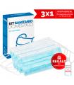 Mascarillas Kit Sanitario Doméstico 3x1 REGALO Gel Sanitario