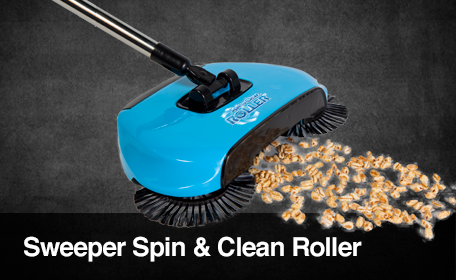 SWEEPER SPIN & CLEAN ROLLER