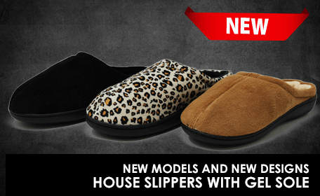 House Slippers with gel sole