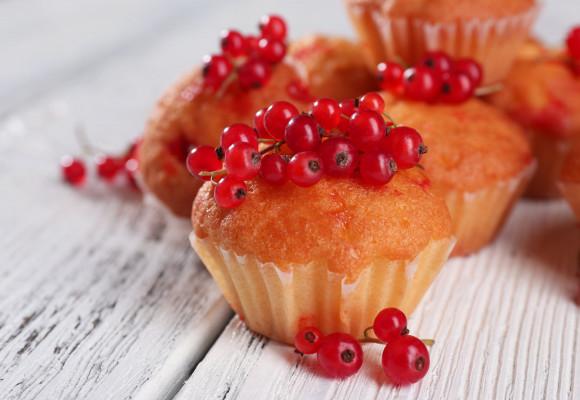 Receta de muffins de grosellas